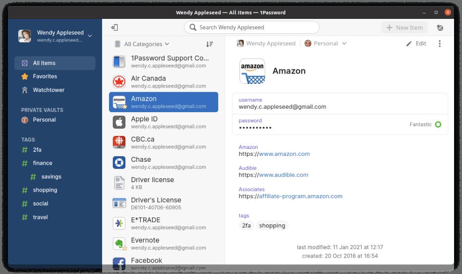 Linux 用ベストパスワードマネージャー | 1Password